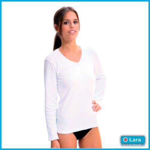 Camiseta LARA manga larga,TERMAL interior afelpado algodón fabricado en España