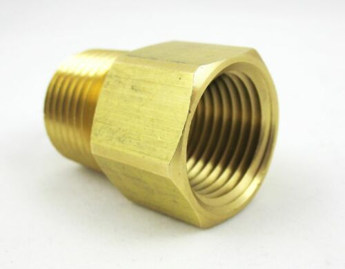 1pc Brass Pipe 1//2 Male x 1//2 NPT Female Adapter Fuel MettleAir 120-DD