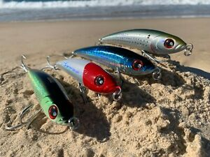 4-x-Noeby-Game-Fishing-Lures-Poppers-Stickbaits-160mm-98g-Tuna-Mackerel-Marlin