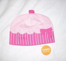 GYMBOREE NEW Pink Cupcake Cotton Knit Hat Beanie NWT Girls Size 3-6 months