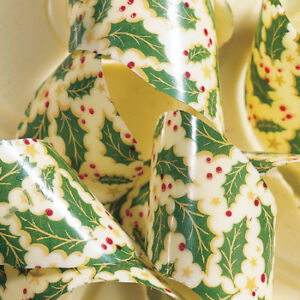 Details About Pcb Chocolate Transfer Sheet Christmas Holly Leaves Pack Of 15