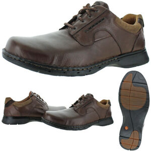Unstructured-Par-Homme-Clarks-Un-Ravel-cuir-Eva-Robe-Chaussures-Oxford