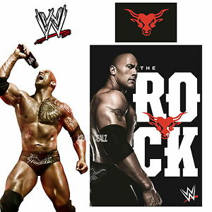 WWE-The-Rock-Single-Panel-Duvet-Cover-Bed-Set-2K15-Dwayne-Johnson-Gift