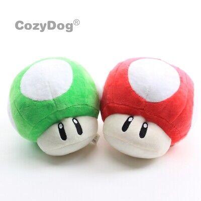 2pcs Super Mario Bros Super 1 Up Mushroom Plush Toy Stuffed Aniaml