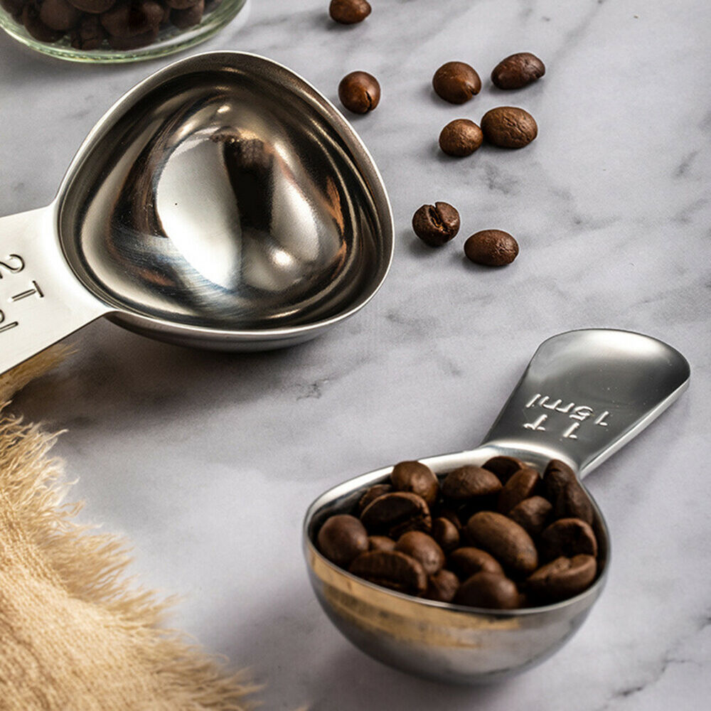 Unique Stainless Steel Coffee Scoop Measuring Spoons Cooking Tools Coffee Charm Home & Garden