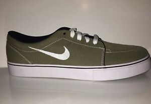 NEW Nike SB Men s Satire Canvas trainers 555380-212 Olive Sneakers ... 49a1c4c609ca