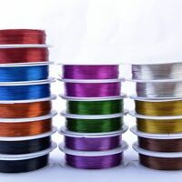 0.3mm 20meter metal Wire Jewellery Tiara Beading Craft Making 10 Color To Chioc