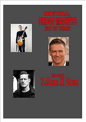 Bryan Adams Fridge Magnet Set Collectors Fridge Magnets  THREE PACK Gift Set