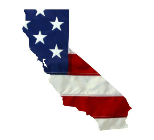 State of California Realistic American Flag Window Decal Various Sizes