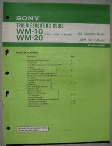 SONY WM-10 WM-20 Troubleshooting Guide