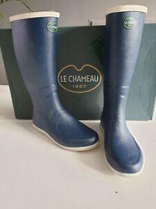 Détails sur Le Chameau Plaisance 2 Bottes Taille 36 UK 3 bleu marine Vente De Liquidation afficher le titre d'origine