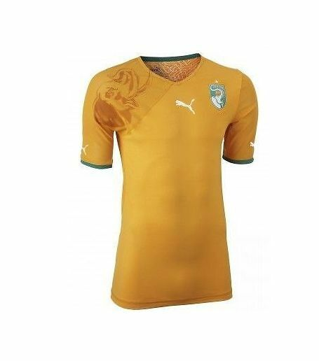 Puma Ivory Coast World Cup WC 2014 Home Soccer Jersey Brand New orange