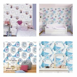 Details about DISNEY FROZEN WALLPAPER, BORDERS AND WALL STICKERS WALL DÉCOR