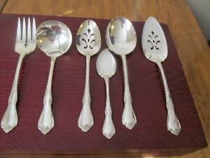Oneida-Fredericksburg-Set-6-Serving-Pieces-Gemeinschaft-Silverplate-Bestecke-k