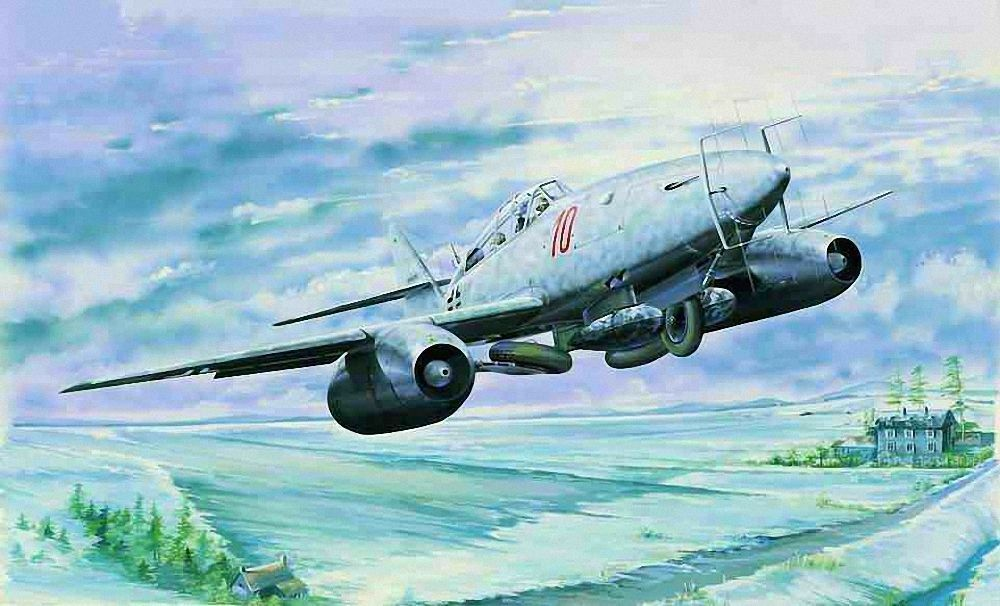 Trumpeter Messerschmitt Me 262 B-1a U1 1 3 2 Building Kit Kit 02237 Aeroplane