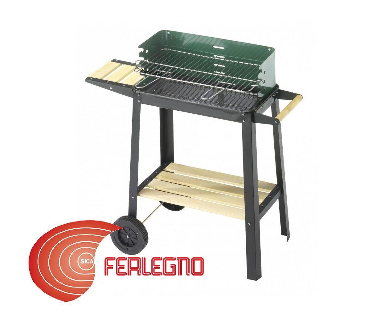 BARBECUE BBQ A CARBONE IN ACCIAIO ARREDO GIARDINO MOD. 50-25 verde W ART.92549