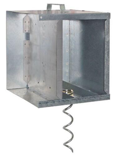 Metall-Akkukasten für Weidezaungeräte AKO44656 geeignet für AN 5500 Solar Kasten