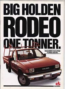 Details about 1990 HOLDEN TF RODEO ONE TONNER UTE Australian Brochure Like  ISUZU FASTER