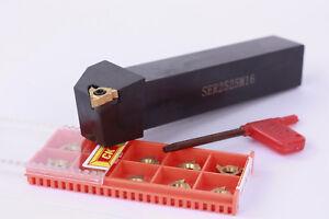 """SER2525M16 Threading Turning Tool Holder 16ER 3//8/"""" AG60 16ERAG60 10pcs"""