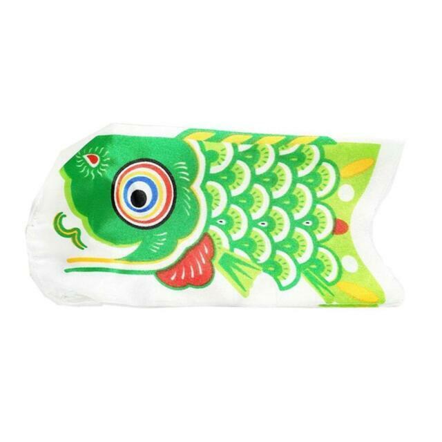 Koi Nobori Carp Wind Sock Green Koinobori Fish Kite Flag Hanging Wall Decor