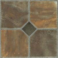Vinyl Floor Tiles Self Adhesive Peel And Stick Slate Bath Kitchen Flooring 12x12