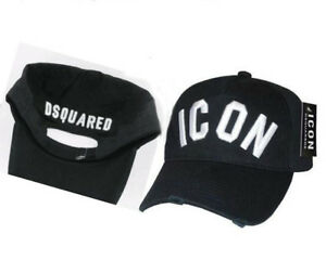 0d561a11423c Image is loading DSQUARED2-ICON-ADJUSTABLE-Unisex-Cotton-Hat-Baseball-Cap-