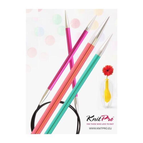 Aproximadamente KnitPro truco aproximadamente aguja truco agujas Zing 100cm aluminio todos los tamaños