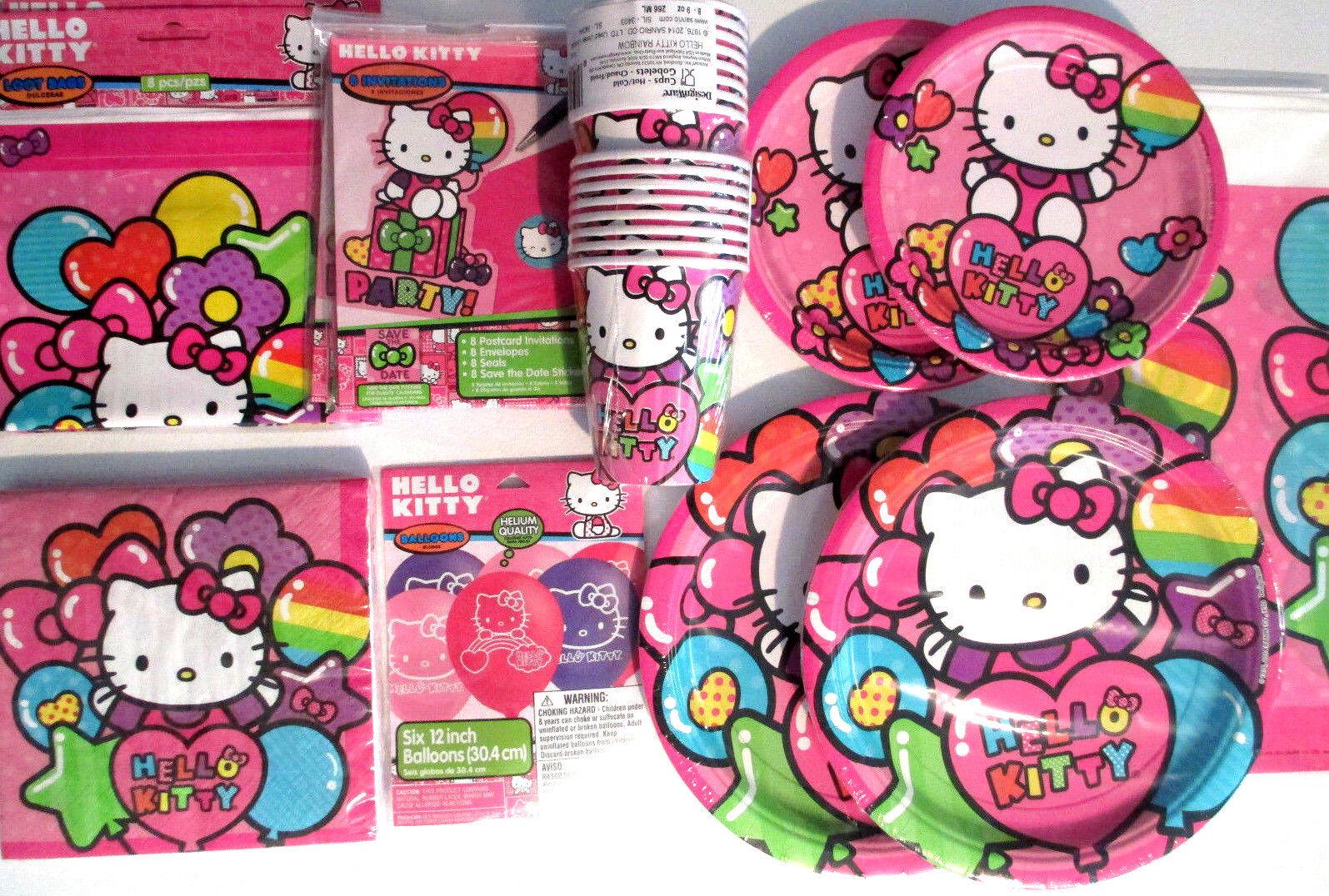 Hello Kitty Regenbogen Geburtstagsparty Stromversorgung Super Satz M  | Mama kaufte ein bequemes, Baby ist glücklich  | Niedriger Preis
