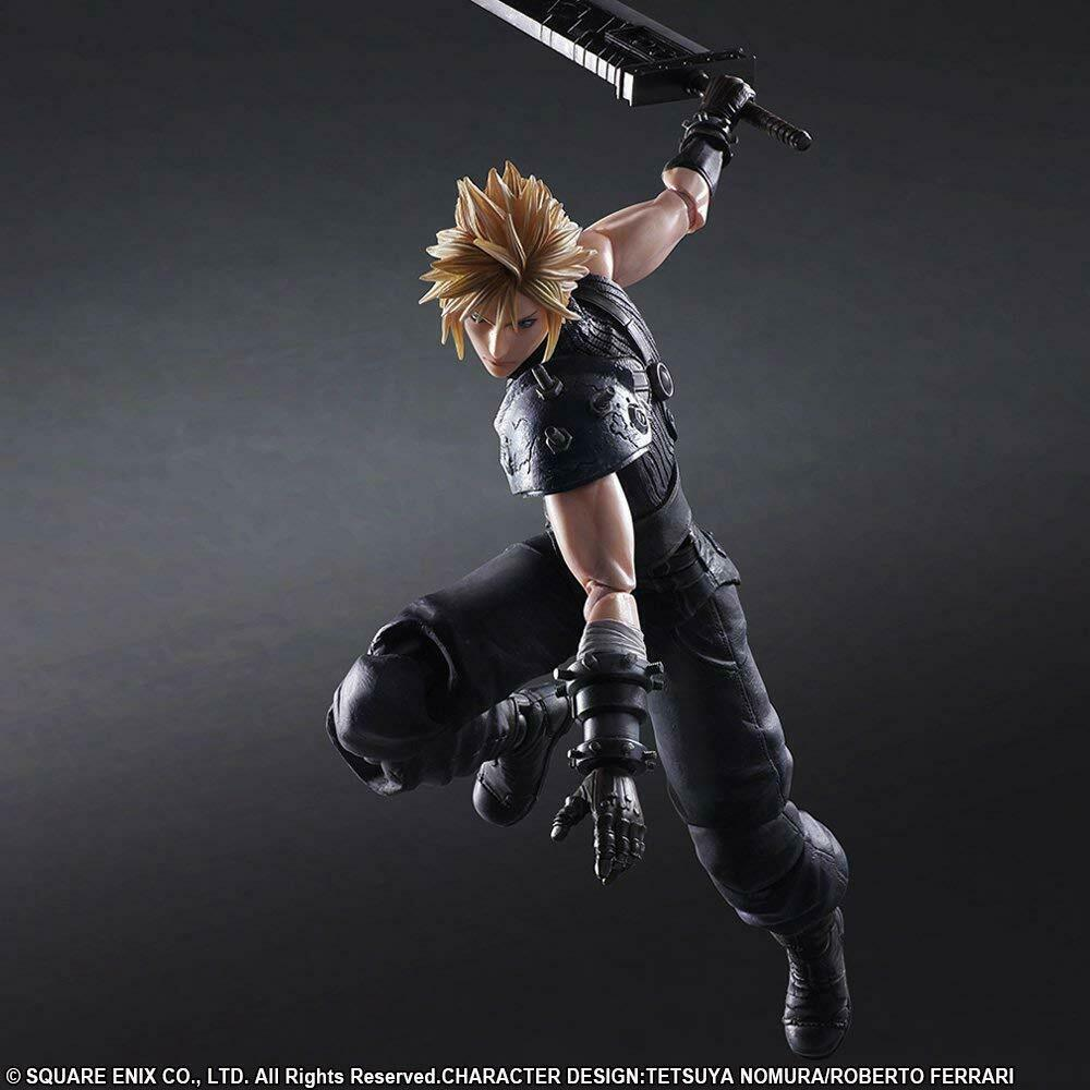 Square Enix Play Arts Kai Final fantasyc Vii Vii Vii Rerendere No.1 Cloud Strife FROM JAPAN 71de23