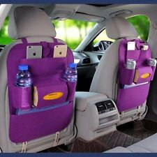 Purple Auto Car Seat Back Multi-Pocket Storage Bag Organizer Holder Accessory