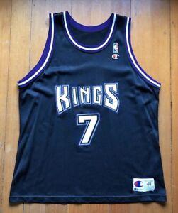 b8fce47a2a3 Bobby Hurley Sacramento Kings Champion Vtg Duke 90s NBA RARE Jersey ...