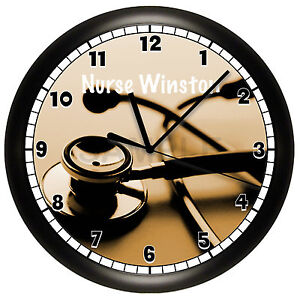 doctor wall clock personalized gift pediatrician nurse office medical ebay. Black Bedroom Furniture Sets. Home Design Ideas