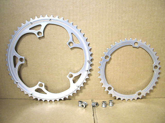 Nieuwe Stock Campagnolo Double ChairRing Set (53x39)...Five Arm Compatible
