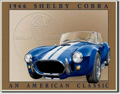 Shelby Cobra 1966 Picture Poster Ford AC Us-Car Decor Automotive USA Shield 291