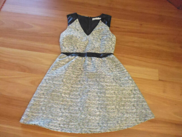 LADIES CUTE BLACK & WHITE SLEEVELESS POLYESTER DRESS BY SUNNY GIRL SIZE 10 CHEAP