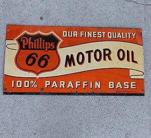 Phillips 66 Advertising Motor Oil Antique Sign Circa