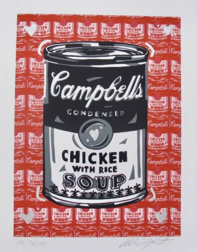 ALLISON LEFCORT CAMPBELL/'S CHICKEN SOUP Hand Signed Limited Edition Lithograph