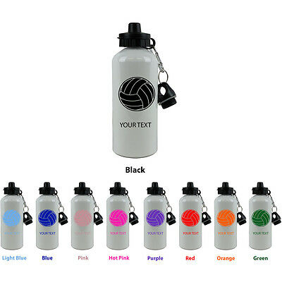 Personalized Custom Volleyball Aluminum White 20 Oz Sport Water Bottle Gift