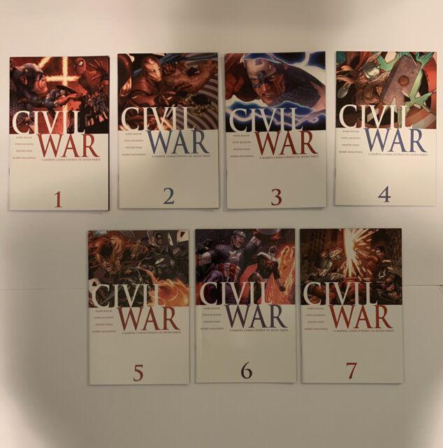 Civil War (2006) #1,2,3,4,5,6,7 1-7 1st Prints Complete Series Marvel Spiderman