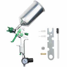 25mm Gravity Feed Spray Paint Gun Kit Gauge Car Base Clear Coat Flakes Primer