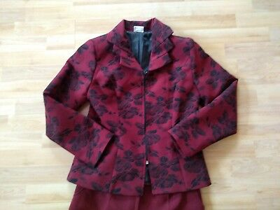 Suits & Suit Separates 36/38 Radient Anzug Damen Damenanzug Bordeaux Mit Blumen Gr