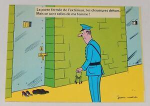 Ancienne-Carte-Postale-FANTAISIE-L-039-ABSURDE-La-porte-fermee-de-l-039-exterieur
