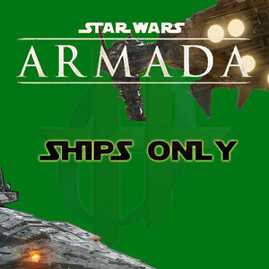 Star Wars Armada Game - Unused Squadrons and Ships with NO upgrade cards