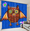 3D Owl loves 35 Blockout Photo Curtain Printing Curtains Drapes Fabric Window AU