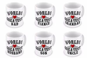 Worlds Greatest Novelty Gift Mug - Dad / Daddy / Step-Dad / Grandad / Papa - New