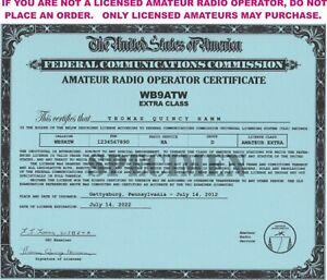 Amateur-Radio-Operator-Certificates