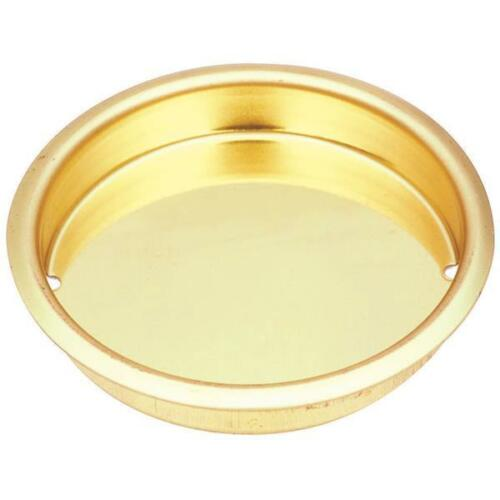 """5 Pk Steel Brass Finish 1 3//4/"""" Dia Recessed Cup Pull N115964"""