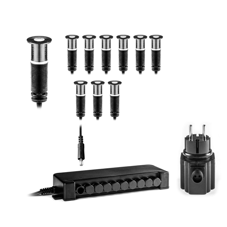 Clgarden LED suelo instalación emisor 10er set bes-s3 10 suelo instalación emisor lámpara