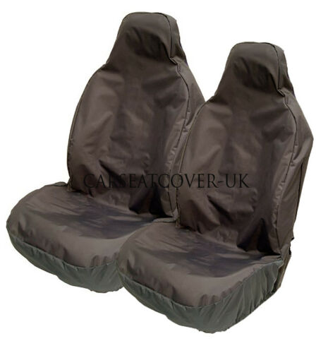 Heavy Duty Black Waterproof Car Seat Covers 2 x Fronts VW Caddy Maxi Life