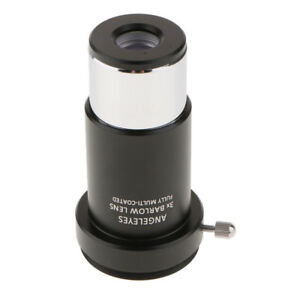 "Telescope Barlow Lens 2X 3X Astronomy Accessory 1.25/"" for Celestron Eyepiece"